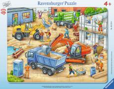 Ravensburger 06120 Rahmenpuzzle Große Baustellenfahrze 40 Teile