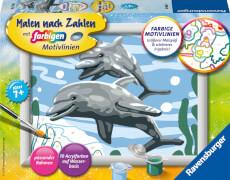 Ravensburger 28468 Malen nach Zahlen Freundliche Delfine Serie E
